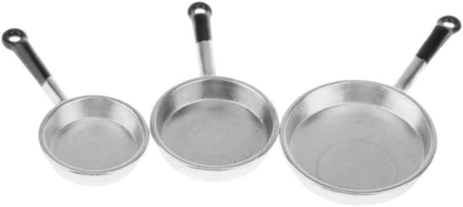 Obtto Poêles Miniature Métal Pot De Cuisson Ustensiles De Cuisine Accessoire De Cuisine Non Collant Casserole Crêpe Durable Poêles, Rouge Bronze Red Bronze
