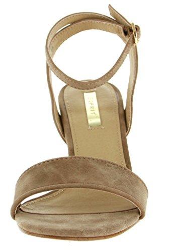 Para Material Esprit Vestir 36 Beige Taupe De Sandalias Sintético Mujer qTttXvPr