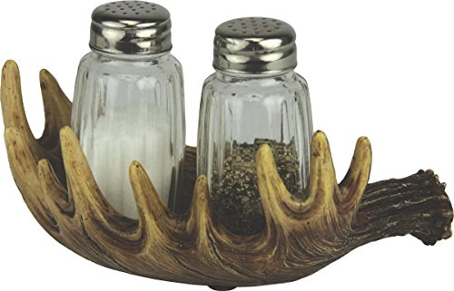 River's Edge Products Moose Antler Salt & Pepper Shaker Set