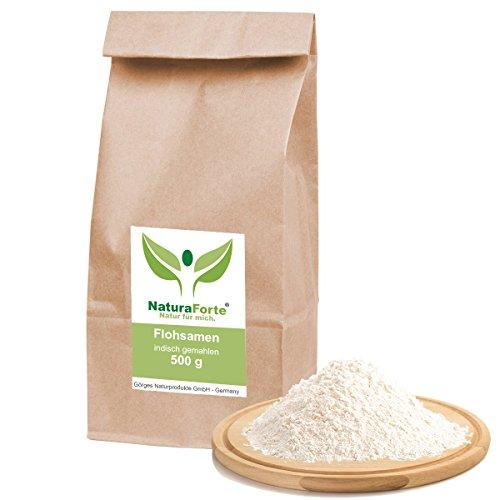 NaturaForte® 500g Flohsamen indisch fein gemahlen 99% Reinheit