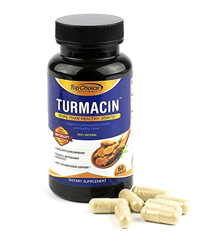 Top Choice Turmeric Supplement Pills – Turmacin 1000mg – Anti Inflammatory Vegetable Capsules – Formula Enhanced for Maximum Joint Health and Pain Relief – NON-GMO, Vegan and Gluten-Free Review
