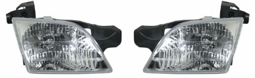 (1997-2004 (1998 1999 2000 2001 2002 2003 97 98 99 00 01 02 03 04) Oldsmobile Silhouette Headlight Assembly - One Pair (Both Driver and Passenger Sides) - DOT Certified)