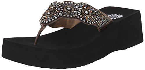 Yellow Box Women's Zemily Flip Flop, Bronze, 8.5 M US (Yellow Box Flip Flops Brown compare prices)
