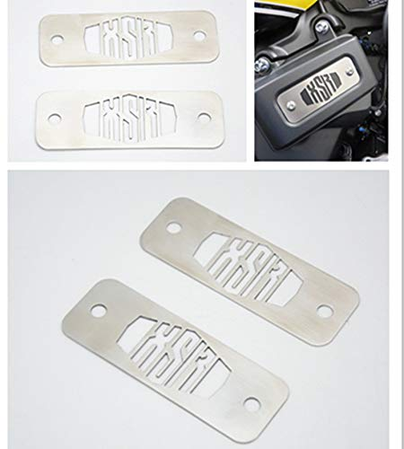 Price comparison product image FidgetKute for Yamaha XSR 900 Powder Coated Stainless Fuse Box Top Plates 1Pair