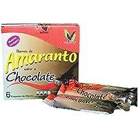 12 CAJAS C/U CON 6 BARRAS DE AMARANTO CON CHOCOLATE 25 G
