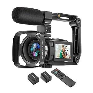 Flashandfocus.com 41PW3WokR9L._SS300_ ZUODUN 4K Camcorder 60FPS Ultra HD Vlogging Video Camera for YouTube 48MP 16X Digital Zoom IR Night Vision WiFi Vlog…