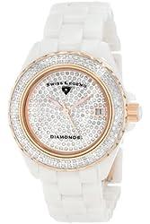 Swiss Legend Women's 20052-WWTR Diamonds Pave Diamond Dial White Ceramic Watch