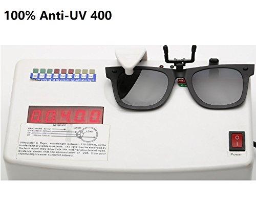 équitation de Anti UV lentille de myopie de Color vélo et Lunettes Yumeik Clip polarisé de près Lunettes Anti de Nuit UVA Soleil sur Conduite Clip Jour Vision de Clip Green la Silver Inw7PqRg