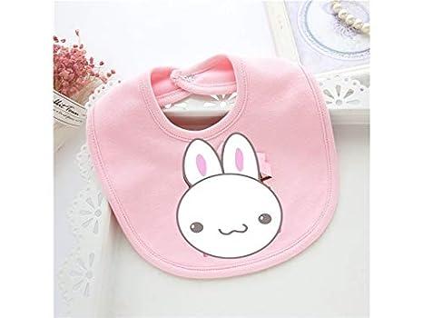 Delantal para niños pequeños Conejo lindo Patrón Toddler Toalla de bebé Saliva Babero de bebé Drool