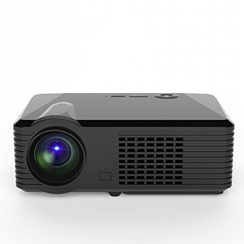 [Simplebeam S200 LED projector,2500 Lumens Home Theater Beamer ,800*480P,120W LED,Dynamic 1080P/4K ready,exceed Mini Projector(black)] (S200 Stereo)