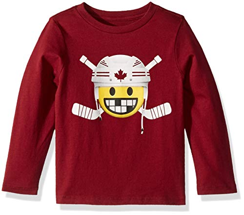 The Children's Place Baby Boys Long Sleeve Graphic Tees, Burgundy, 2T