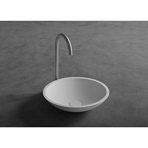 ID Fox Solid Surface Vessel Sink Bowl Above Counter Sink Lavatory Washbasin by ID Bath Collection