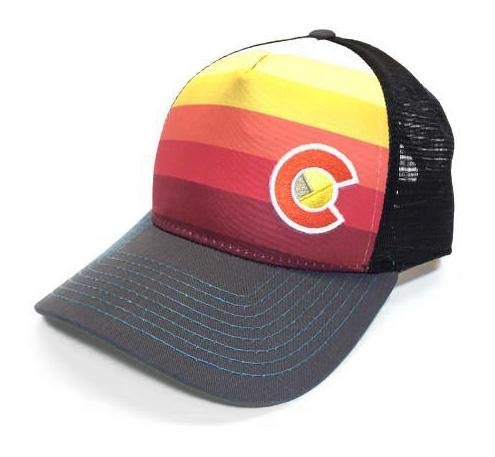 b5f1f580 Image Unavailable. Image not available for. Color: YoColorado Sunset Fader  Trucker Hat ...