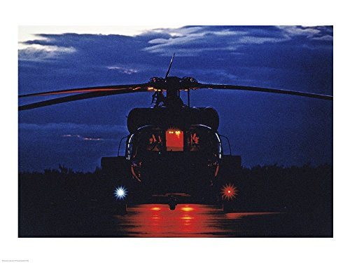 UH-60A Black Hawk Helicopter Art Print, 19 x 14 inches