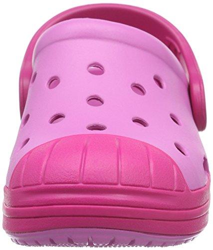 crocs Unisex-Kinder Bump it Clog Kids Pink (Party Pink/Candy Pink)