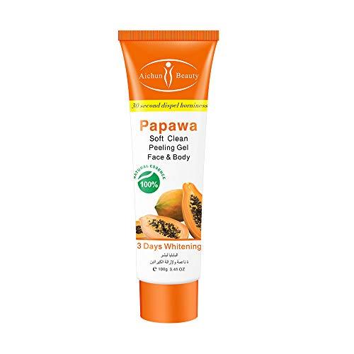 Aichun Beauty Milk Exfoliating Dead Skin Facial Purify Body Cleaning Peeling Gel Cream 100g (PAPAYA)