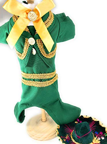 Mariachi Dog Costume size XS