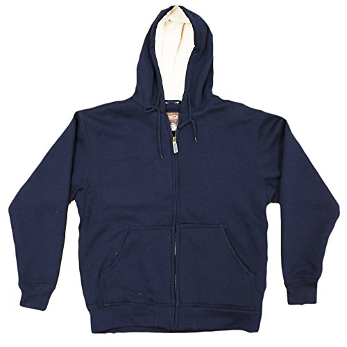 Moose Creek Men's Carbon Creek Hoodie With Berber Sherpa Lining (Large, Navy) (Sweatshirt Drawstring Sherpa)