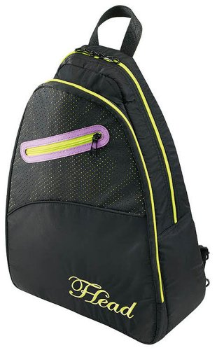 HEAD Maria Sharapova Sling Pack Tennis Racquet Backpack, Black/Yellow