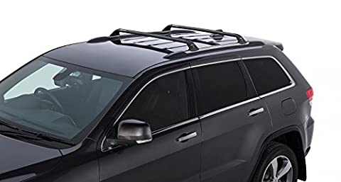 Rhino Rack 2011-2016 Jeep Grand Cherokee WK2 4dr SUV (with Chrome Roof Rails) Vortex RSP 2 Bar Roof Rack Black (2013 Jeep Parts)