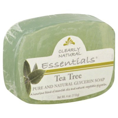 2 Packs of Clearly Natural Glycerin Bar Soap - Tea Tree - 4