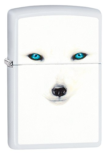 Zippo Arctic Fox Pocket Lighter, White Matte