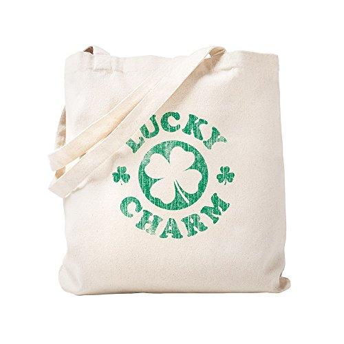 CafePress Vintage Lucky Charm Natural Canvas Tote Bag, Cloth Shopping Bag