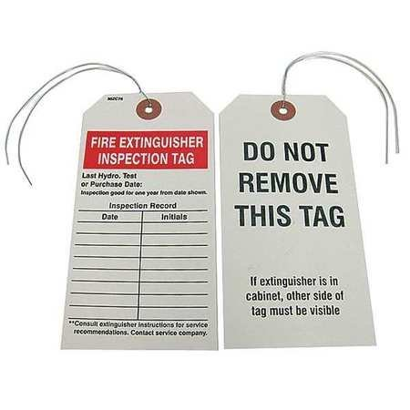 Fire Extinguisher Tags - Fire Extinguisher Inspection Tag, PK25