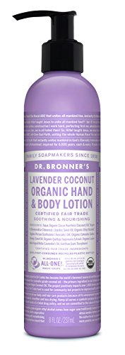 (Dr. Bronner's & All-One Organic Lotion for Hands & Body, Lavender Coconut, 8-Ounce Pump)