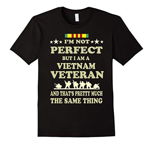 Mens Memorial Day Gift Veteran's Day Vietnam Veteran T Shirt Medium Black