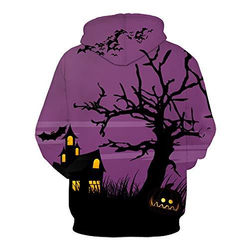 Party Halloween Femmes Amoureux Impression 1 Casquettes 3d Effrayant Adeshop Chemises Couples Tops Manches Multicolore Hommes Sweatshirt À Longues Mode Capuche 8xqd4