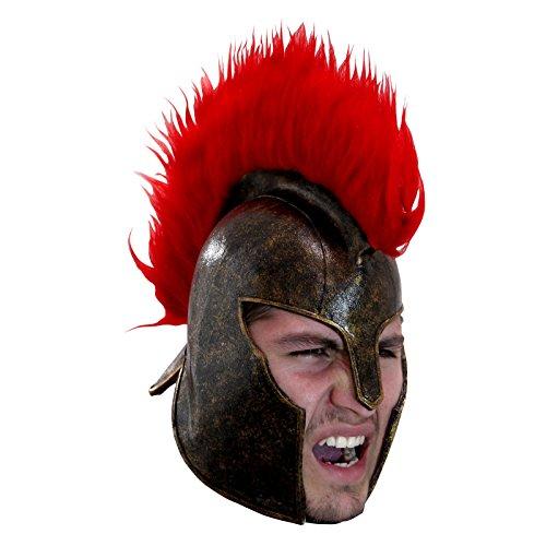 Men's Trojan Helmet with Faux Fur Crest (Usc Trojan Costume)