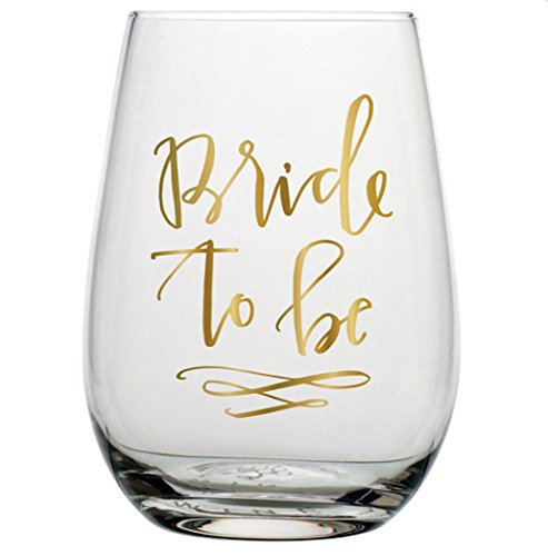 Slant 20 oz Stemless Wine Glass - Bride to be -