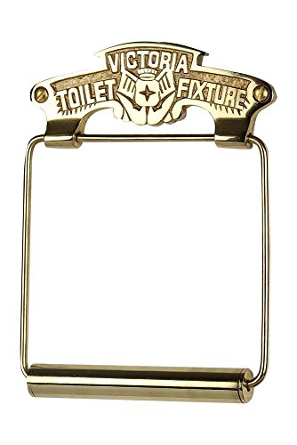 A29 Victoria Toilet Fixture Solid Brass Toilet Paper Holder, Polished Brass Finish (Brass Solid Roll Holder Toilet)
