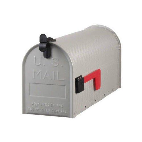 Solar Group St100000 Standard Galvanized Steel Gray Rural Curbside Mailbox ()