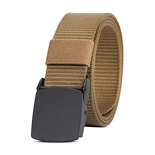 Nylon Web Belts for Men Military Tactical Belts for Outdoor Hiking Golf Sports with Metal Buckle 1.5 Inch ()