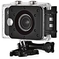 JTT Live twice Action Camera S6 Full HD WIFI Action Camera 12.4 MP Sport Action Camera with Waterproof Wide Angle Lens Action Camcorder with Accessories Kits For Bike Surfing Diving Black