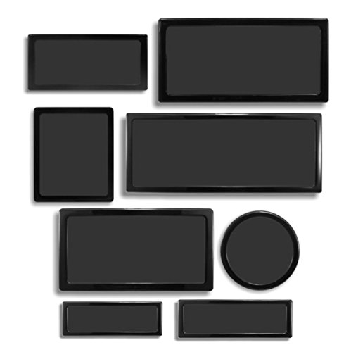 DEMCiflex Dust Filter Kit for Corsair Air 540 (8 Filters), Black Frame/Black Mesh