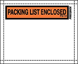 """Pres-Quick® Brand Packing List Envelopes 4.5"""" X 5.5"""" by LPS Industries (1,000)"""