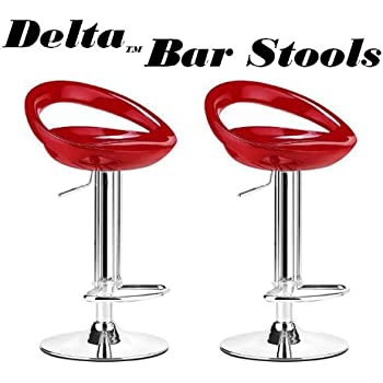 Delta Modern Style ABS Adjustable Swivel Bar Stools - Red (Set of 2)  sc 1 st  Amazon.com & Amazon.com: Farmhouse Tractor Adjustable Bar Stool Red: Home ... islam-shia.org