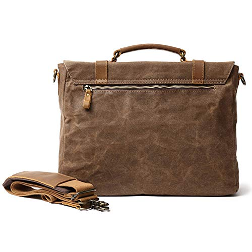 12 cerata Bag tela adatto Wy impermeabile Messenger 38 verde olio tracolla Man lavoro Backpack sport armygreen per Laptop Vintage Casual ayng 30cm YqFHYv