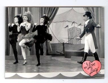 Lucille Ball Desi Arnaz trading card I Love Lucy 2001 Dart #57 Ricky Ricardo Circus Stage Act