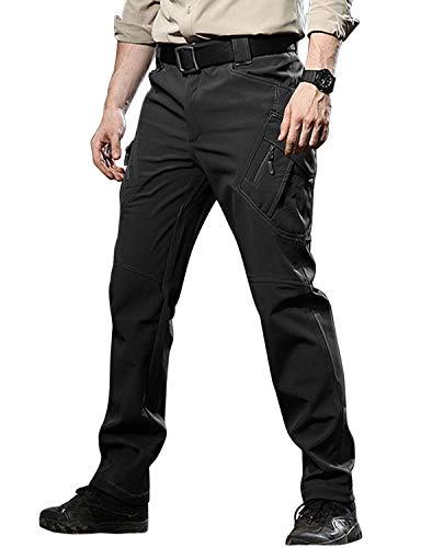 TACVASEN Men's Fleece Lined Breathable Softshell Ski Tactical Pants Military Trousers Black,US 40 ()