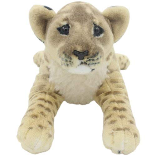 FairOnly Realistic Stuffed Animals White Tigers Plush Toys Pillows for Children's Birthday Gifts Brown Lioness