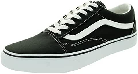 Vans Men's Old Skool Skate Shoe (6.5 D(M) US, Black/True White)