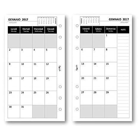 Recambio agenda 2017 mensual blanco 9 5 x 17 Repuesto Agenda ...