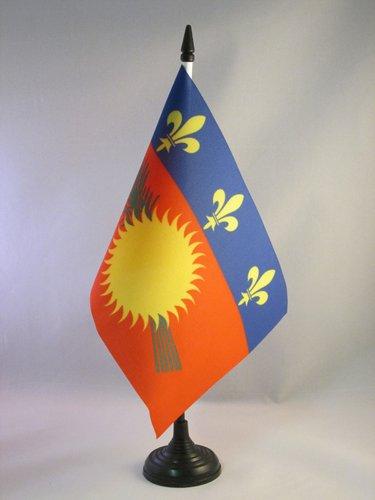 AZ FLAG Drapeau de Table Guadeloupe 21x14cm