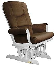 Shermag Recliner Glider Chair, White Pecan