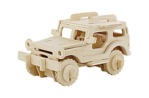 Price comparison product image JP232 DIY 3D Wooden Puzzle: Jeep