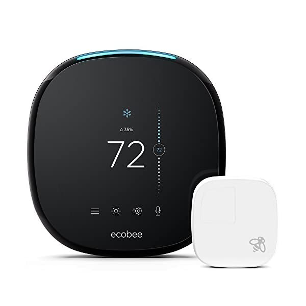 ecobee4 Smart Thermostat with Built-In Alexa, Room Sensor Included 1